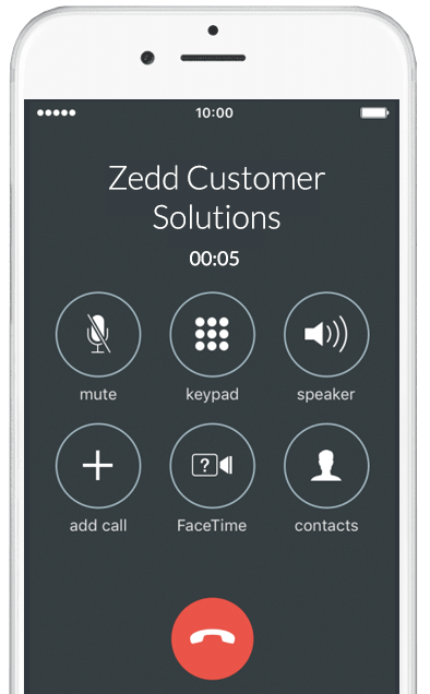Contact Zedd Customer Solutions