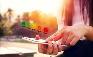 business satisfaction survey concept.